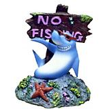 Blue Ribbon Shark with No Fishing Sign Ornament