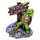 Blue Ribbon Turtle No Fishing Sign Ornament