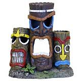 Blue Ribbon Tiki Head Statue Ornament