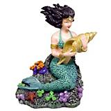 Blue Ribbon Mermaid with Seashell Ornament