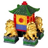 Blue Ribbon Garden Pagoda with Dogs Ornament