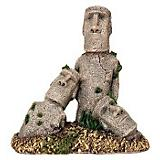 Blue Ribbon Easter Island Statues Ornament