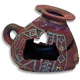 Blue Ribbon Incan Vase Ornament