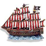 Blue Ribbon Pirate Slipper Ship Ornament