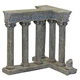 Blue Ribbon Column Ruins Ornament