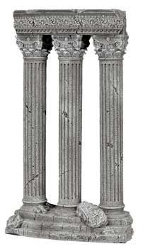 Blue Ribbon 3 Column Ruins Ornament