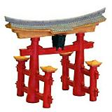 BR Japanese Torii Gate Aquarium Decoration