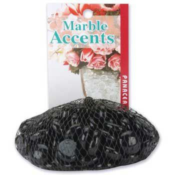 Aquarium Gem Marble Accents Black