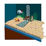 Lifegard Aquatics Underwater River Decoration