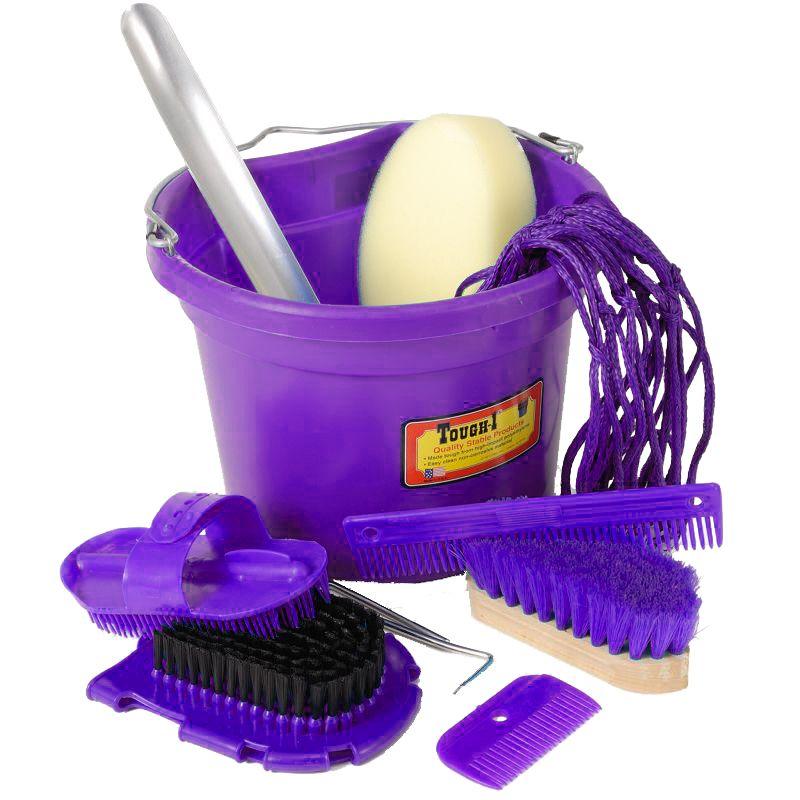 10 Piece Grooming Set Purple