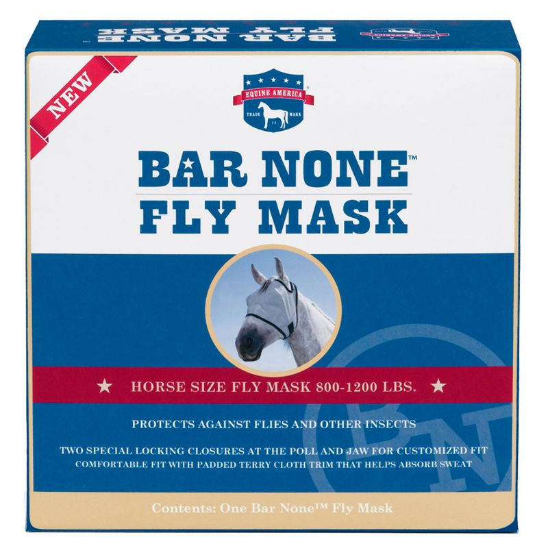 Bar None Fly Mask WHITE HORSE/WITHOUT EARS