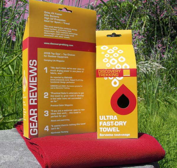 Discovery Trekking Fast-Dry Towel 58x34 In Red