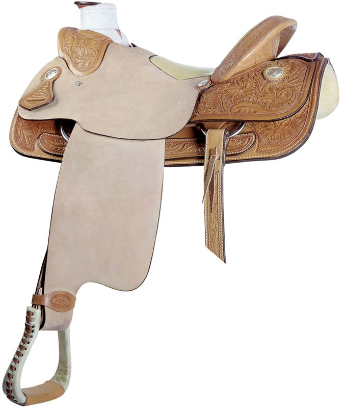Billy Cook Saddlery Wade Floral Roper Saddle 16In
