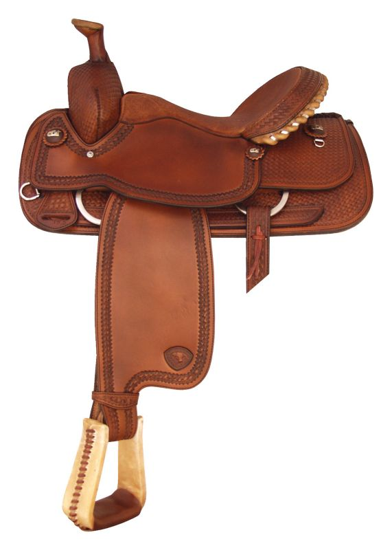 Tex Tan Boe Allen Roper Saddle 14.5In Pecan