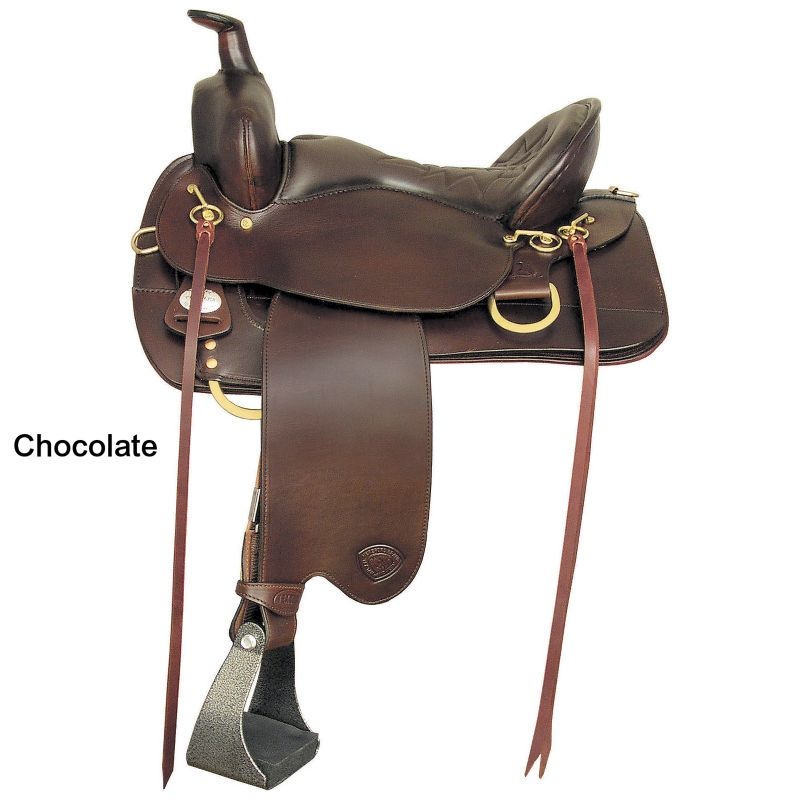 Tex Tan Eminence Flex Western Trail Saddle 16.5In