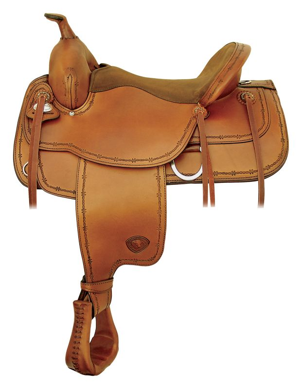 Tex Tan Montrose Flex Western Trail Saddle 17In Pe