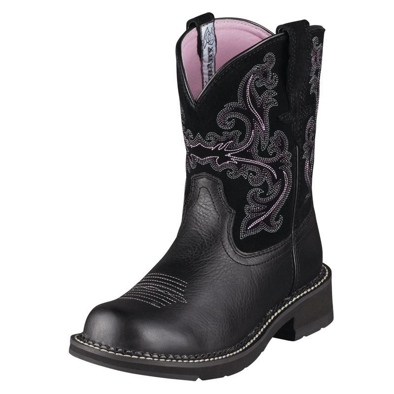 ariat ladies fatbaby ii boots 8  black on lovemypets.com