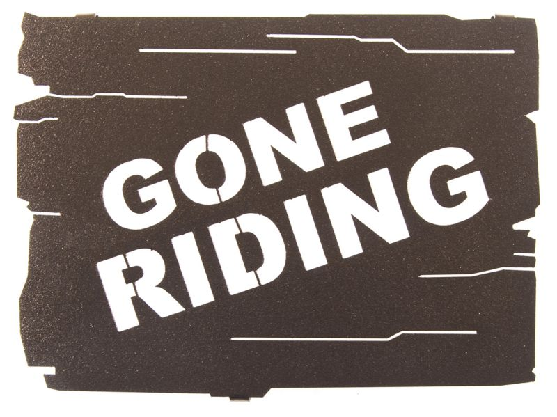 Gone Riding Wall Art Espresso Best Price