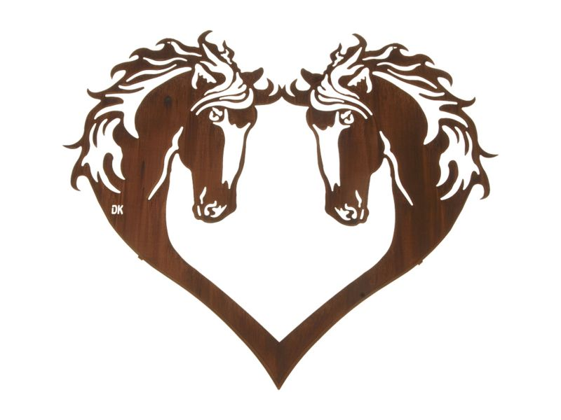 Heart of Horses Wall Art Honey Pinion Best Price