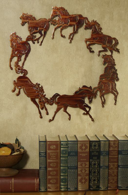Circle of Horses Wall Art Honey Pinion Best Price