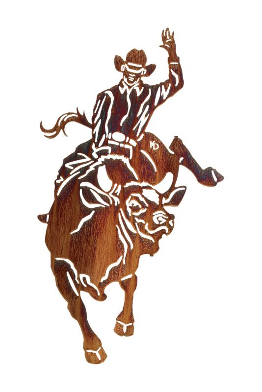 Bull Rider Wall Art Honey Pinion Best Price