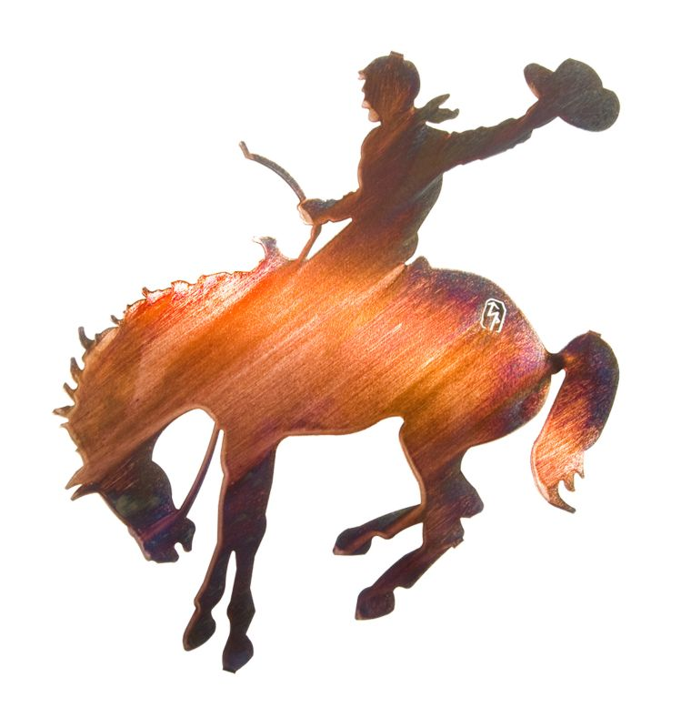 Bucking Bronco Wall Art Honey Pinion Best Price