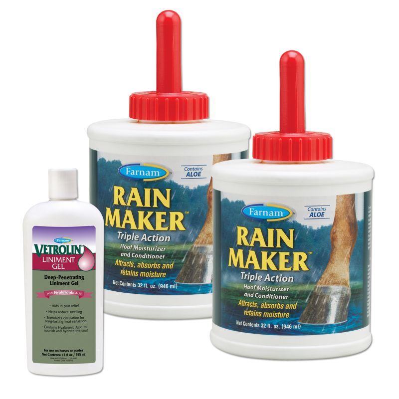 2 Farnam Rain Maker with FREE Vetrolin Liniment Gl