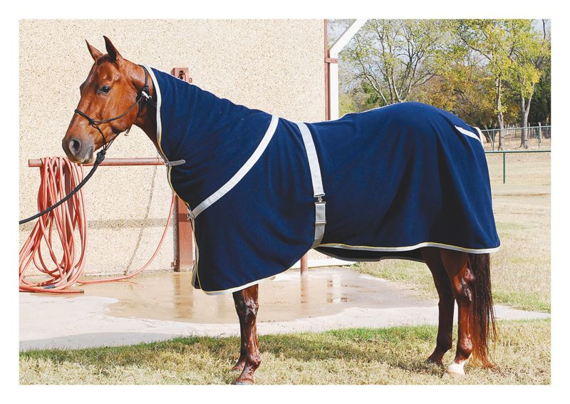 Classic Equine Polar Fleece Cooler Large Navy