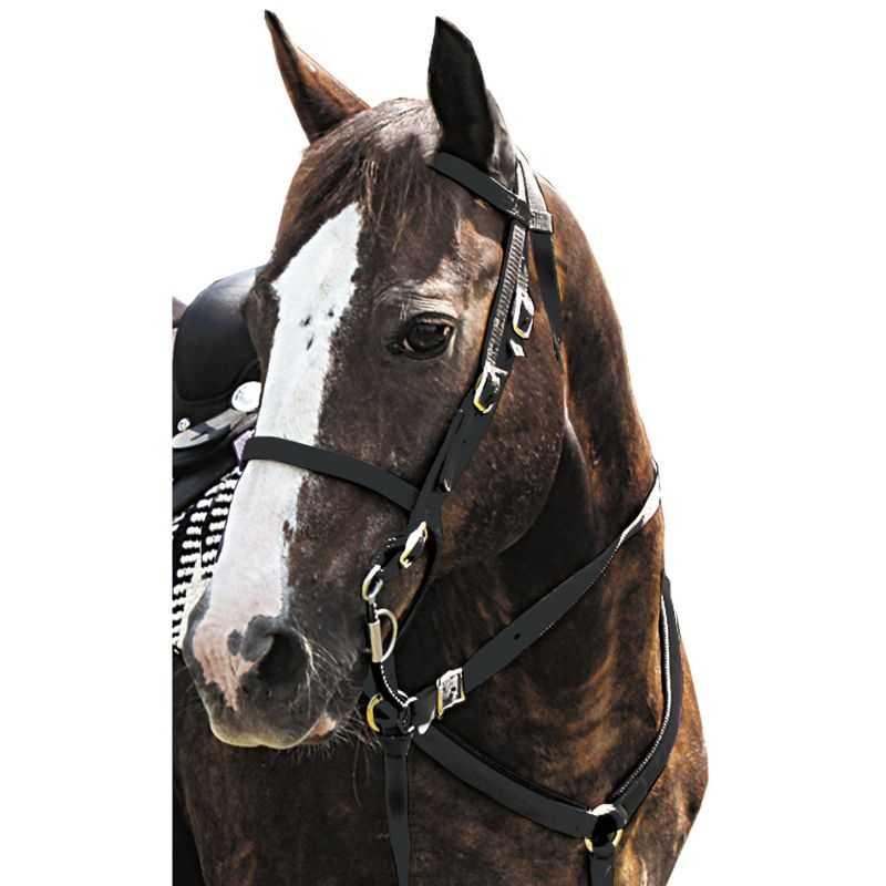 Western Poly Tack Set Black