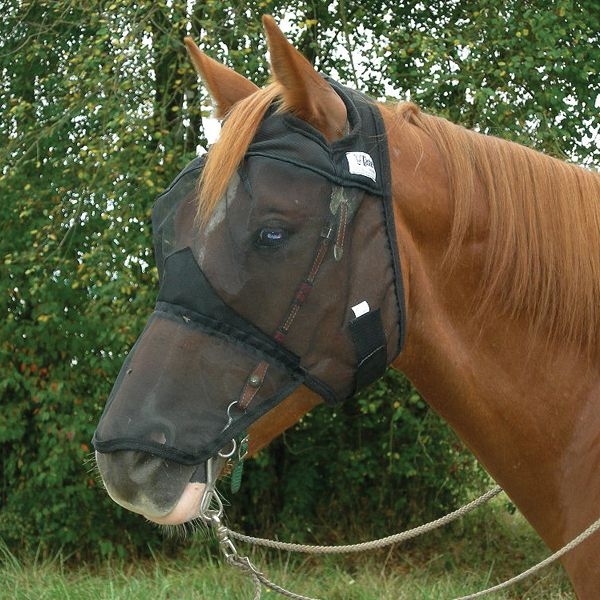 Cashel Quiet Ride Extended Nose Fly Mask Draft