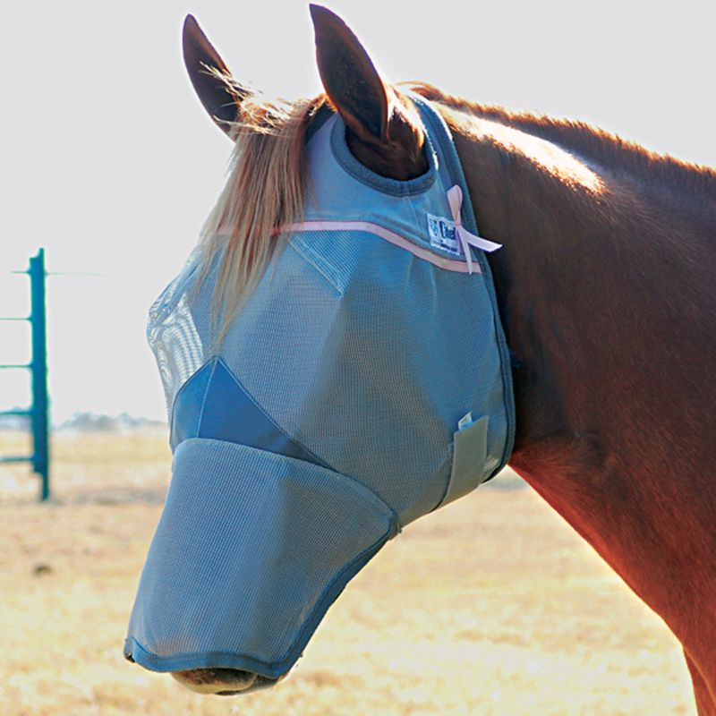 Cashel Breast Cancer Long Nose Fly Mask Draft