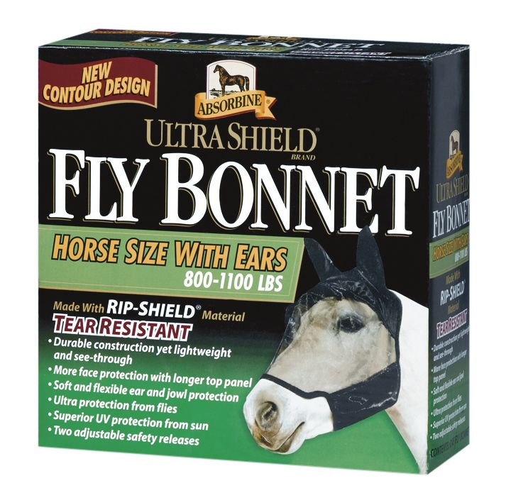 Absorbine Ultrashield Fly Mask w/Ears Horse Box Best Price