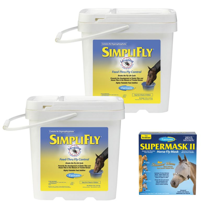 Farnam SimpliFly 20lb 2-Pack Plus SuperMaskII FREE