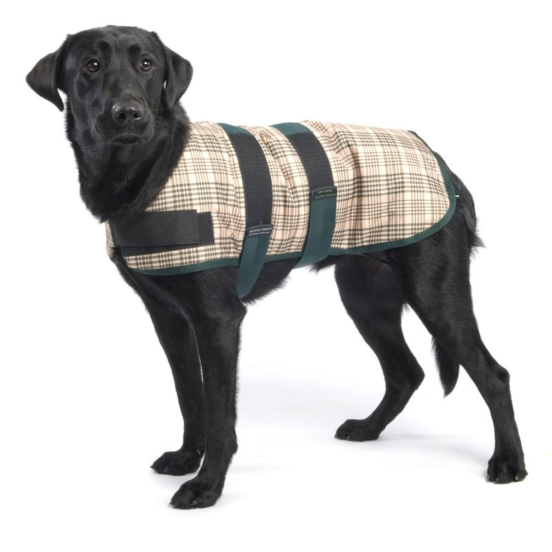 Defender Classic Plaid Dog Blanket 32In Chocolate/