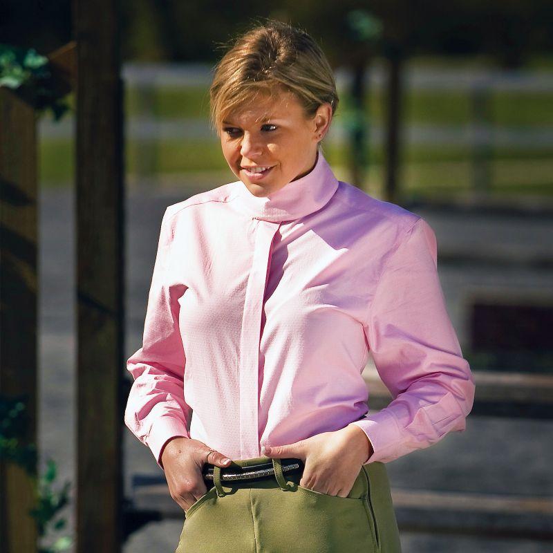 TuffRider Ladies Starter Long Sleeve Shirt Pink