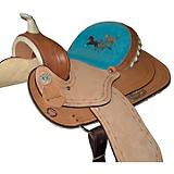 HH Saddlery Turquoise Horse Barrel Saddle