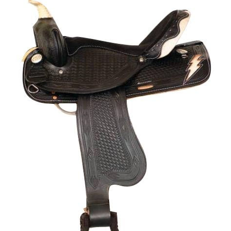 HH Saddlery Lighting Bolt Barrel Saddle 13