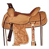 HH Saddlery Oak Leak Tooled Roper Saddle