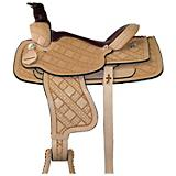 HH Saddlery Hand Tooled Patchwork Roper Saddle