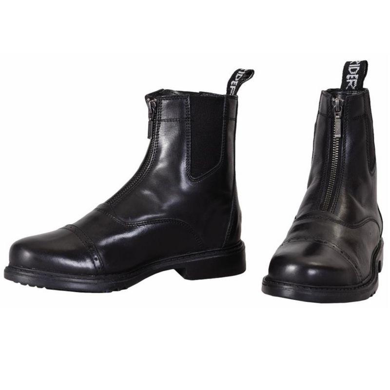 TuffRider Mens Baroque Zip Pad Boots Black