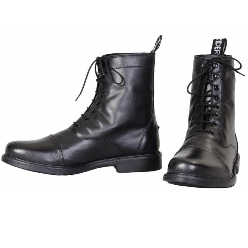 TuffRider Mens Baroque Lace Paddock Boots Black