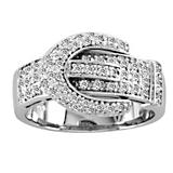 Kelly Herd Pave Buckle Ring