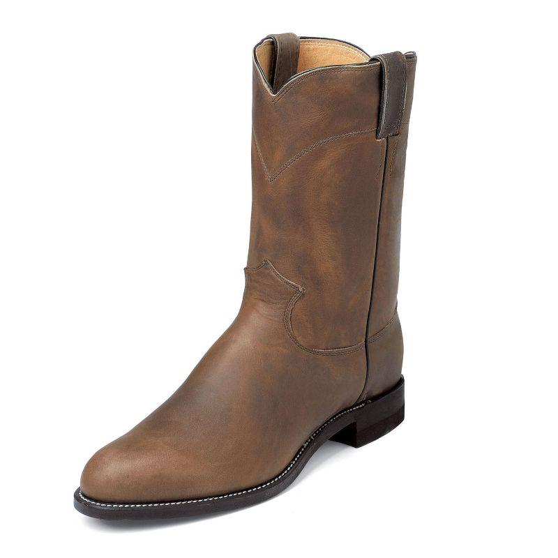 Justin Mens Roperin Boots Black Kipskin
