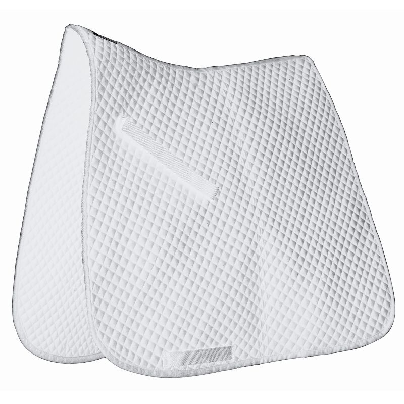 Roma Miniquilt Dressage Saddle Pad Full White/Whit