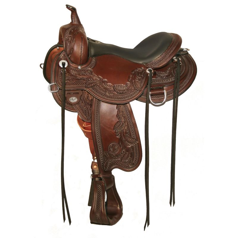 Circle Y Goodnight Wind River Saddle Wide 14 Wal