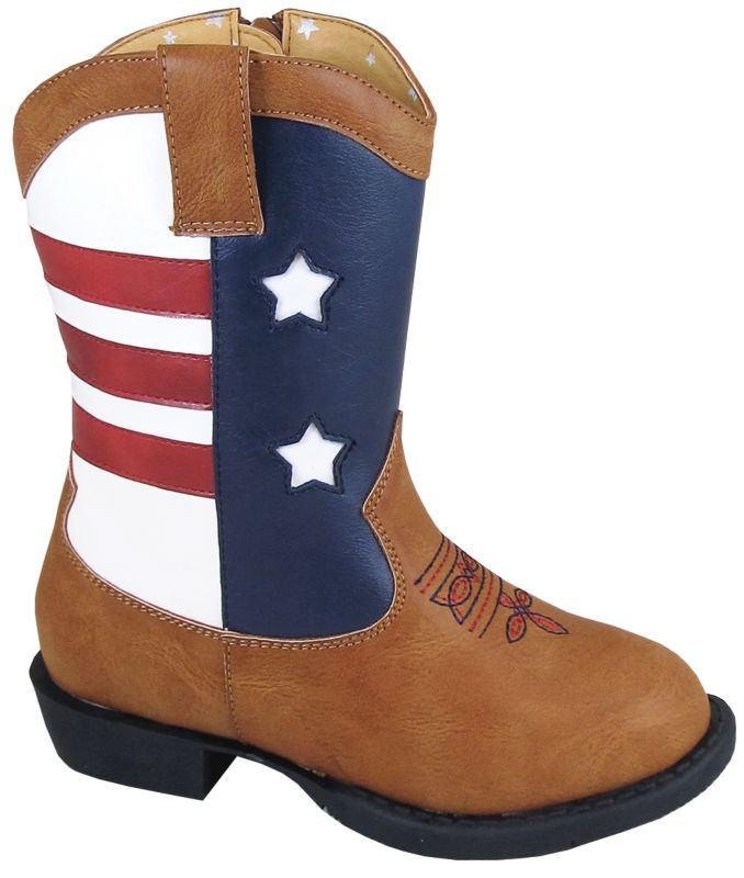 Smoky Mountain Kids Side Zip Austin Light Up Boots