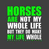 Horses Make My Life Whole T-Shirt
