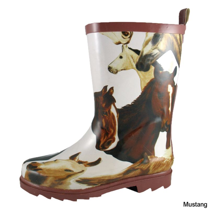 Smoky Mountain Childs Animal Print Boot 1  Mustang