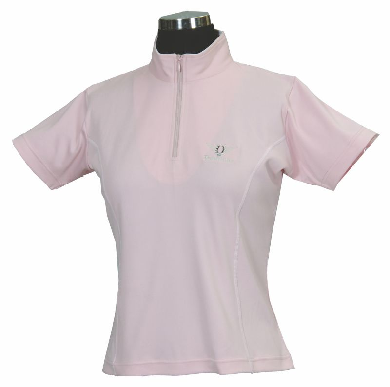 tuffrider ladies indio short sleeve shirt l pink on lovemypets.com