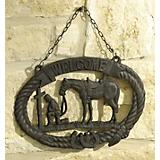 Praying Cowboy Cast Iron Welcome Sign